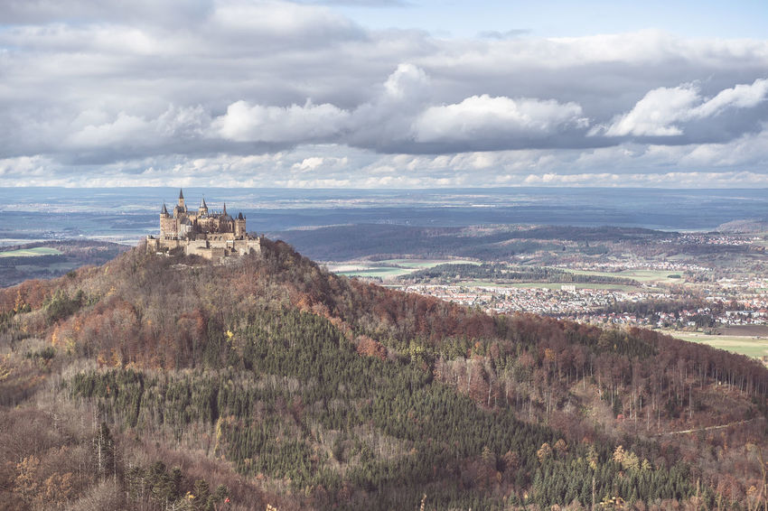 Autumn Beauty In Nature Burg Hohenzollern Day Grass Growth Landscape Nature No People Outdoors Plant Sea Sky Southern Germany Swabian Alb