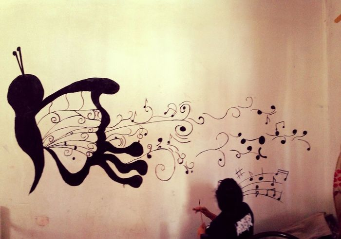 wall painting done by me n ma friend :D