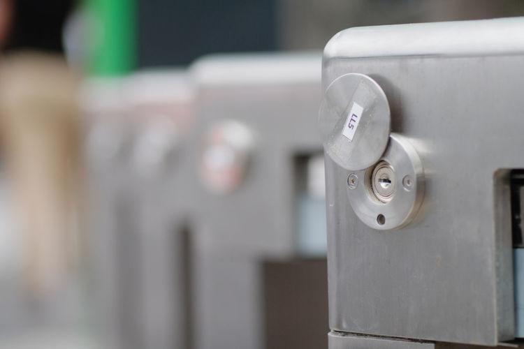 Close-up of keyhole