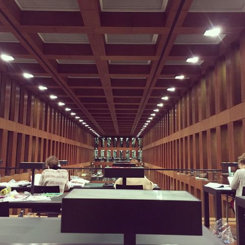 Symmetric Library. Architecture Auditorium Day Education Humboldt University Berlin Indoors  Library No People First Eyeem Photo