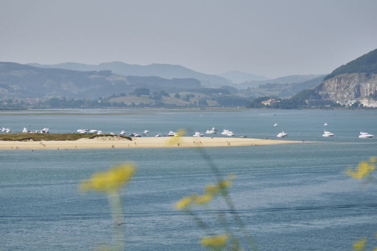 Sea view from santoña in summer
