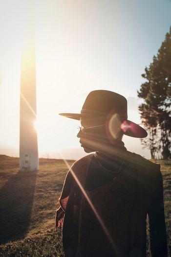 Photography EyeEm Best Shots Visual Creativity Close-up Framing Shadow Sihlouette Sunset Standing Light Beam Sunlight Men Portrait Sun Clear Sky Adventure Capture Tomorrow