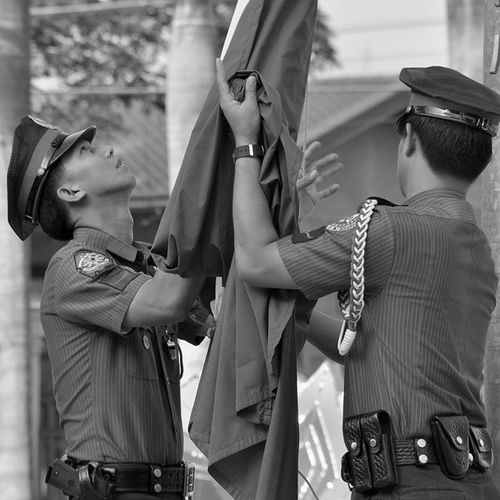 Pnp Bnw Flagraisingceremony Flag Police Pulis