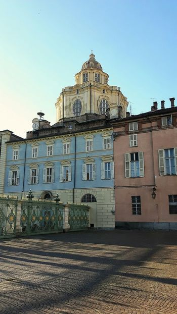 Torino Barocca Shadows & Lights Sunset Cityscape Outdoor Photography Building Exterior Baroque Style Architecture Facade Building Colors Sky Church Architecture Place Turin Italy Art Is Everywhere Historical Building EyeEm Best Shots Clear Sky Window Built Structure Travel Destinations History No People Colour Your Horizn