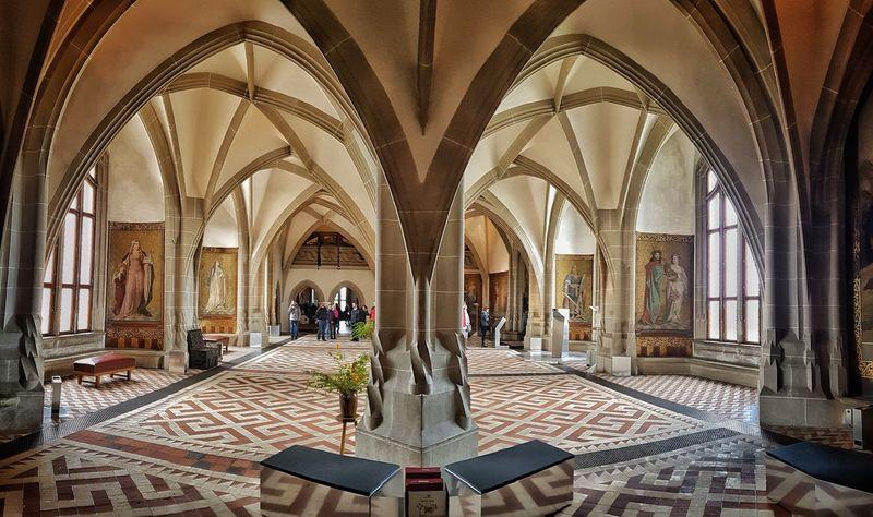 Architectural Column Place Of Worship History Architecture Albrechtsburg Castle Meißen Gothic Public Building