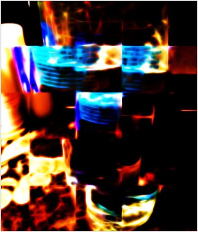 Bottled Water Sliced Water Ripple Abstract Still Life Reflection Digital Art Distorted Reality