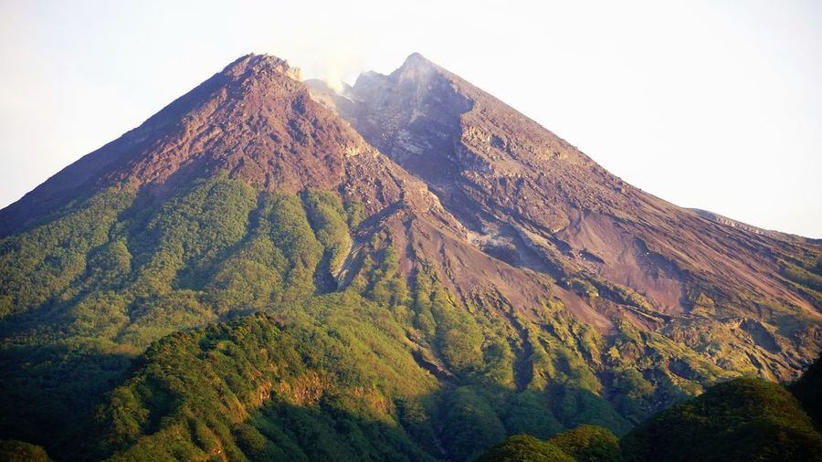 Mt Merapi, Indonesia Mountian View Volcano Landscape Live Volcano Tourist Attraction