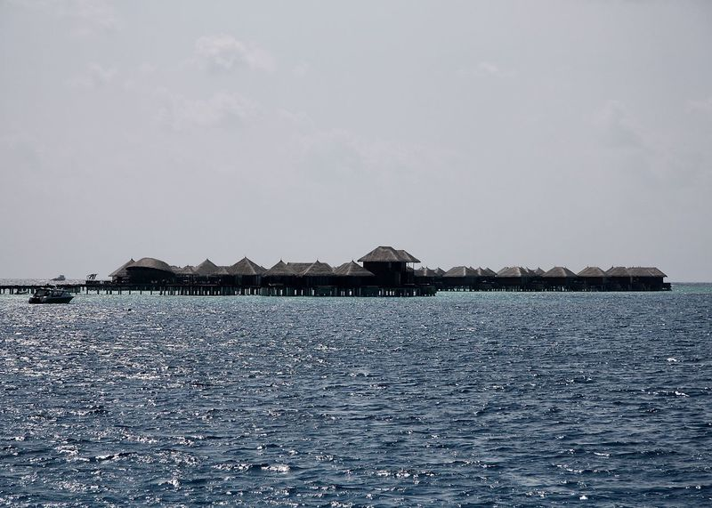 Architecture Beauty In Nature Building Exterior Day Horizon Over Water Maldives Mountain Nature No People Outdoors Scenics Sea Sky Tranquil Scene Tranquility Travel Water Waterfront Watervillage