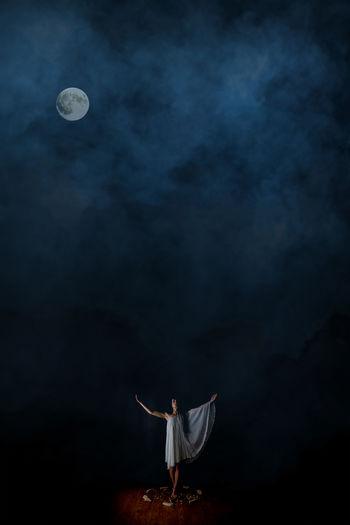 The Creative - 2018 EyeEm Awards Astronomy Black Background Digital Art Digital Composite Full Moon