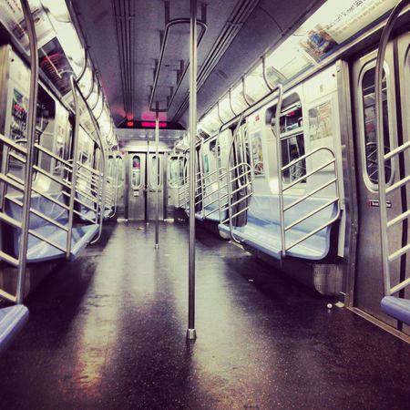 New York City NYC Subway Train Subway Train Empty Train Empty Subway Car NYC Subway