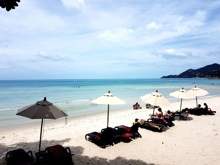 Samui Island Samui Island Samui_thailand Samui_Sunsets Beach Photography Lifestyle Relax Thailand Holiday Beauty In Nature Water Sea Beach Sand Summer Relaxation Sky Horizon Over Water