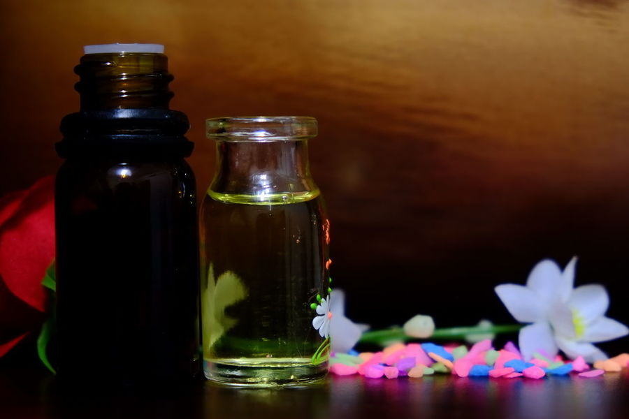 aromatherapy oil Aromatherapy Fresh Produce Freshness Aroma Aroma Therapy Aromatherapy Oil Beauty In Nature Bottle Freshness Healthcare And Medicine Herbal Medicine Nature Oil Bottle Relax Relaxing Time Spa