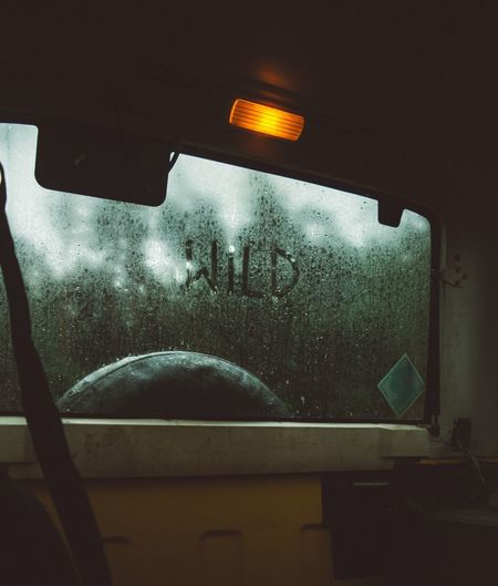 Vehicle Interior Transportation No People Window Windshield Car Interior Indoors  Vehicle Seat Land Vehicle Close-up Day Sky Wild Wildlife Wildlife & Nature Wildlife Photography Fog Quote Inscription Fresh On Market 2017