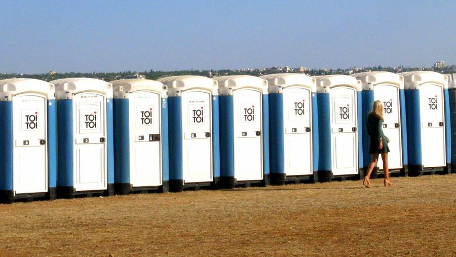 Toilet Toilette Art Architecture Blue In A Row Mobile Toilet Repetition Side By Side Style Style And Fashion Toi Toi