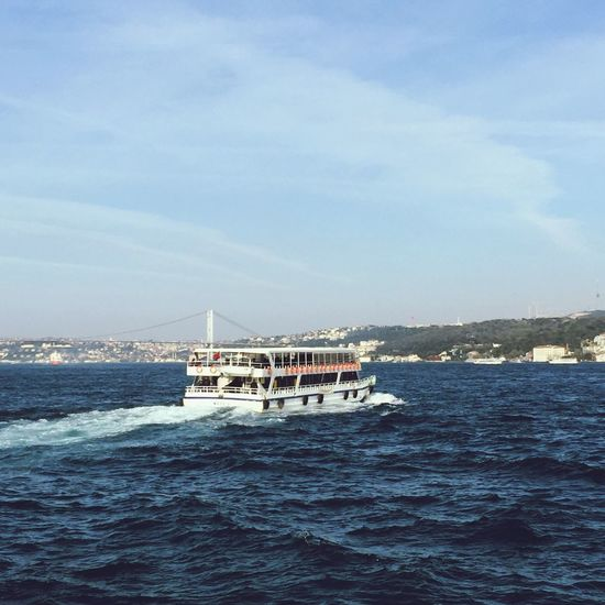 Enjoying The Sun Hanging Out Istanbul Relaxing Bosphorus Ferry Enjoying Life Sea Bridge