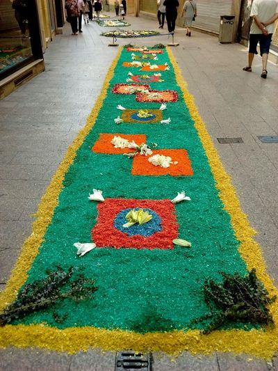 Corpus Lleida 2017, alfombras de flores. Multi Colored Day Outdoors No People Corpus Lleida Flowers Flores Flors/ Flowers Flors