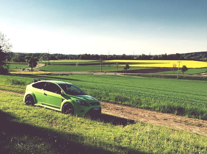 Rs Ford Focus Field Grass Green Color Rural Scene Landscape Agriculture Day Outdoors Nature Beauty In Nature