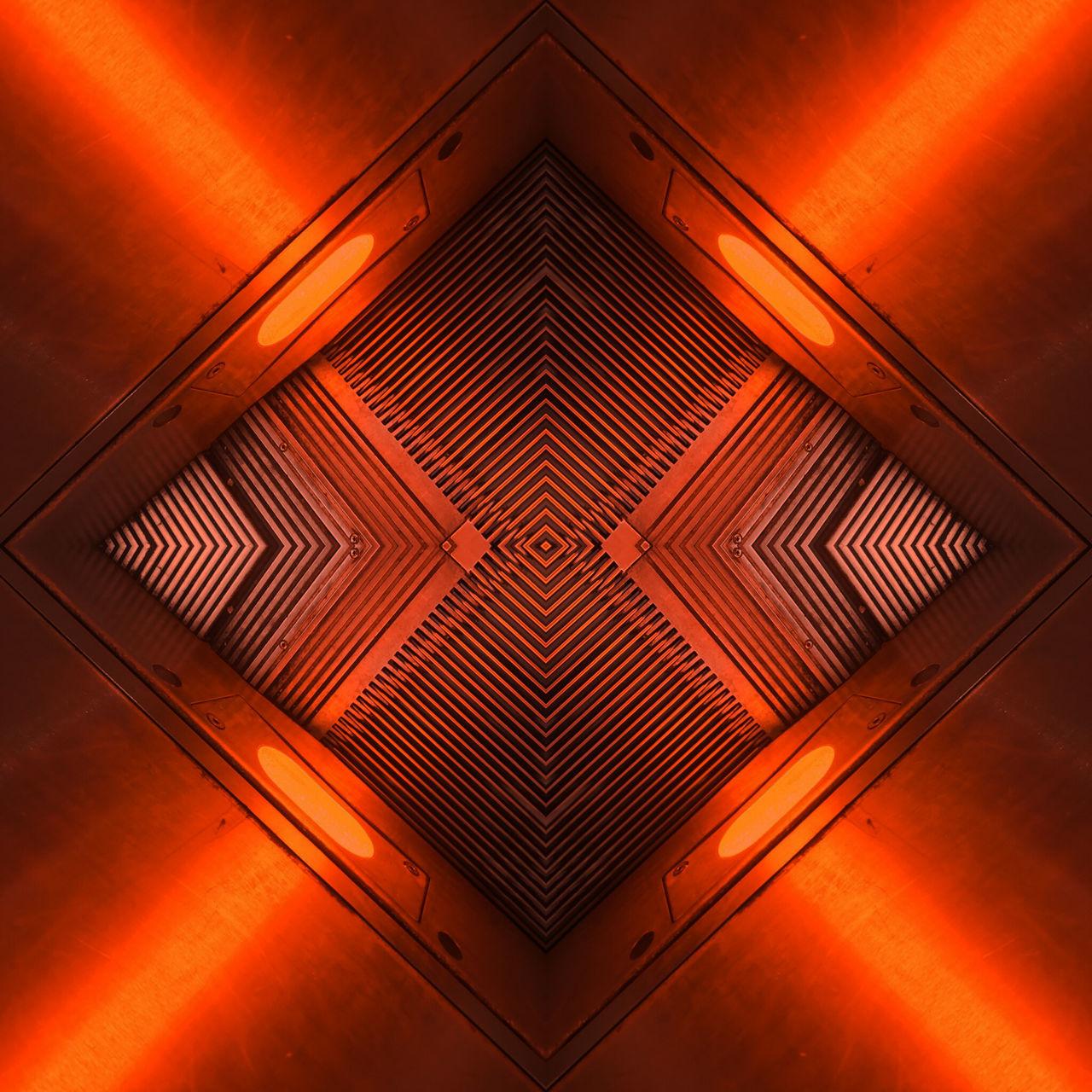 no people, indoors, symmetry, illuminated, close-up