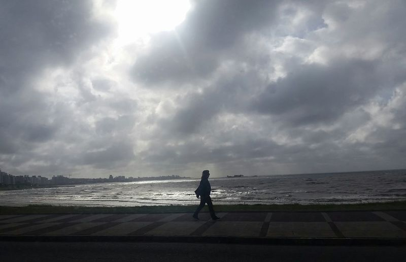 Clouds Sportsman Water Sea Full Length Beach Men Standing Sand Sky Horizon Over Water Forked Lightning Dramatic Sky Surfboard Atmospheric Mood Silhouette Windsurfing Thunderstorm