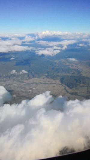 View From An Airplane Cloud, Sky & Mountain Beautyofindonesia Kitorangexplore Enjoying The View