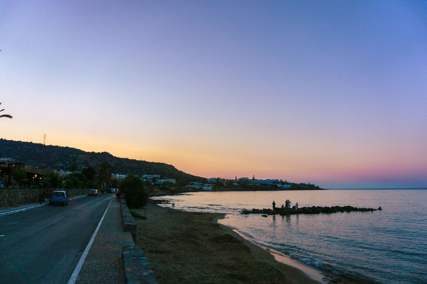 Beach Beauty In Nature Clear Sky Day Mountain Nature No People Outdoors Road Scenics Sea Sky Sunset Tranquil Scene Tranquility Transportation Water