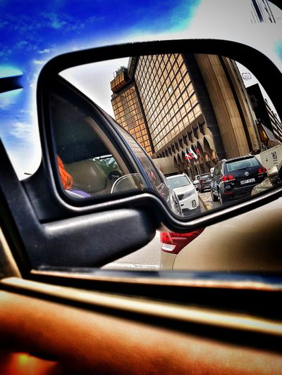 Reflection Vehicle Mirror Side-view Mirror Kuwait Kuwaitstreetphotography Travel Destinations Hotel Jw Marriott Hotel jw marriott kuwait
