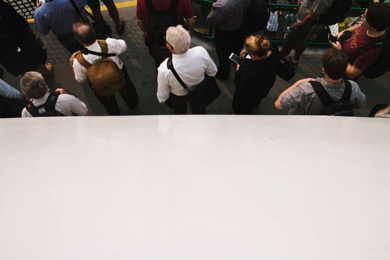 To wait in place Waiting In Line White And People Half View Transportation Sea Transportation On The Boat Group Of People Crowd Men Real People Large Group Of People Adult Women Copy Space City Day Lifestyles Group Leisure Activity Outdoors Arts Culture And Entertainment Walking EyeEmNewHere