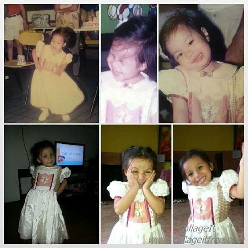 And so my baby dress fits my cousin now haha. (me on top row. lexine on the bottom row) Ifeelold