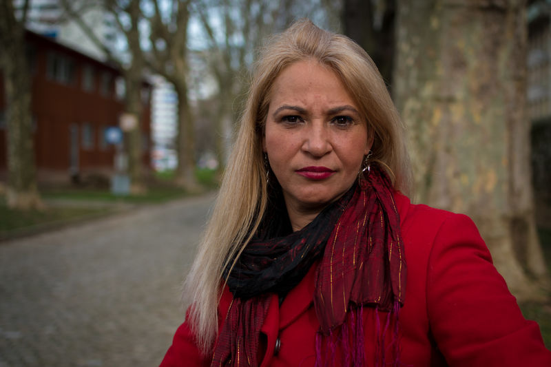 Rosana Adult Adults Only Beautiful Woman Beauty Blond Hair Close-up Confidence  Long Hair Looking At Camera One Person One Woman Only Only Women Outdoors People Portrait Real Life Real People Red Winter Serious Seriousface Seriousness  Serious Look Serious Expression The Portraitist - 2017 EyeEm Awards