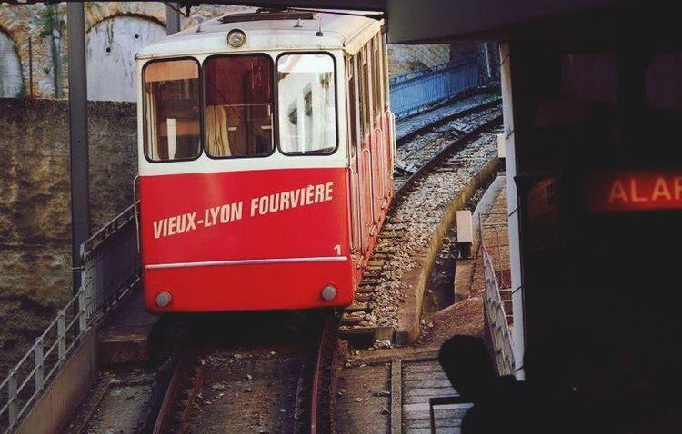 Mode Of Transport Train - Vehicle Public Transportation Rail Transportation Day Outdoors Lyon France Fourvière  Funiculaire