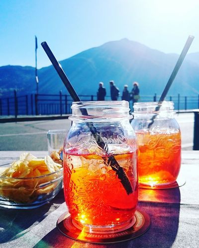 Italy 🇮🇹 Sky Day Tranquility Lakeview Travel Tourism Travel Destinations Lagodicomo Spritz Lakecomo Spritz Aperol Aperitivo Time Aperol Spritz Italiandrink Drinks Chips Italianbar EyeEmNewHere