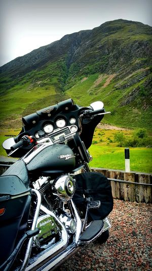 Outdoors Biking Motorcycle Motorbike Cruiser Bikes Landscape Nature Travel Adventure Nomadic Life Dreamlike Dreams EyeEmNewHere Beauty In Nature Beautiful United Kingdom Freshness Springtime Summer ☀ Sky And Clouds Mountain Biking Mountains Green No People Transportation Welcome To Black