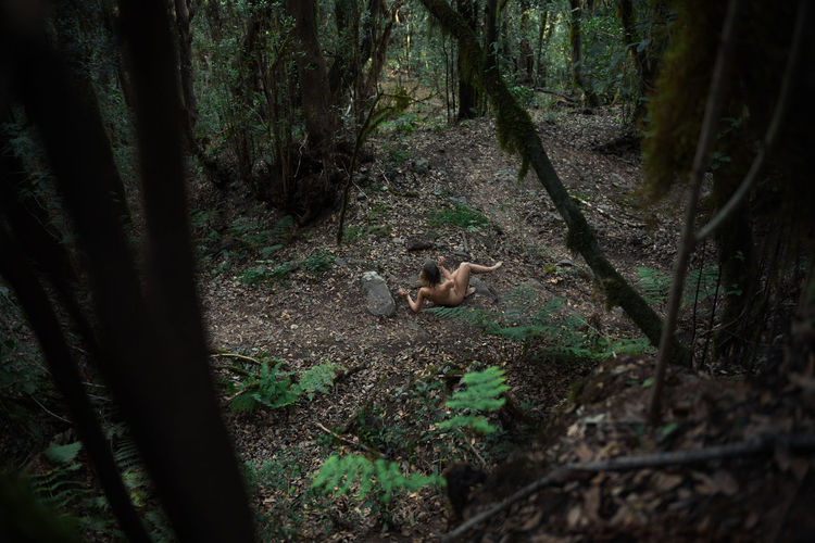 Into the Wild La Gomera, Canary Islands Jungle Nature Wildlife Naked_art Nude_model On The Ground Ferns Green Creepers Forest Moody Linas Was Here