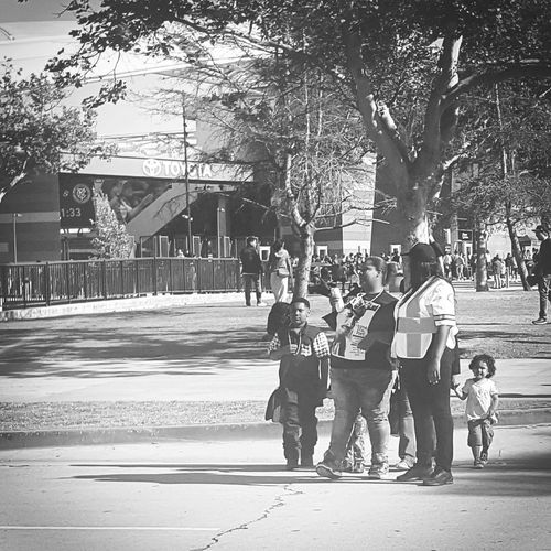 Adventures In The City Toyota Stadium Child Tree Childhood Full Length Road Togetherness Boys Walking Street Focus On The Story EyeEmNewHere