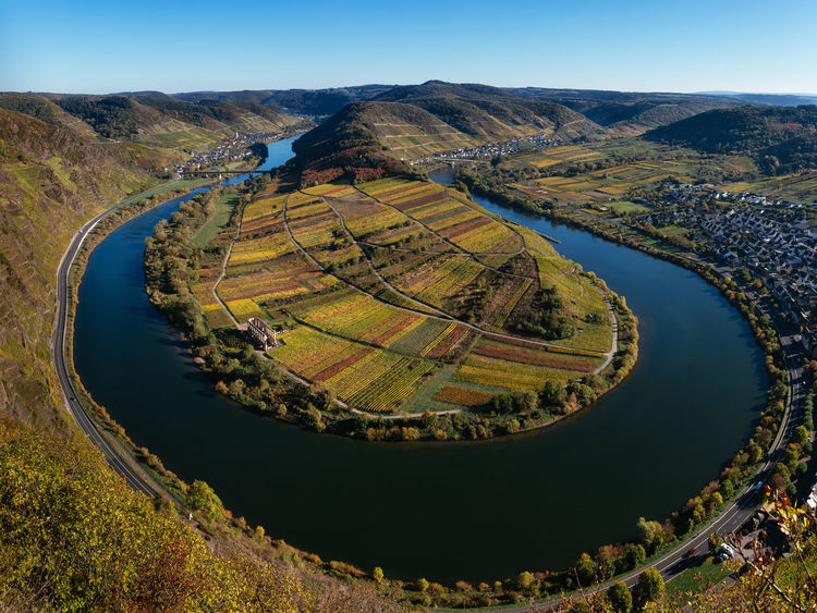 Landscape Environment High Angle View Idyllic Mountain Aerial View Majestic Majestic Nature Mosel Mosel River In Germany Mosel Valley Moseltal Vine Vineyard Vines Vineyards  Vineyard Cultivation Autumn Autumn colors Autumn Leaves Autumn🍁🍁🍁 GERMANY🇩🇪DEUTSCHERLAND@ From Above  Moselschleife