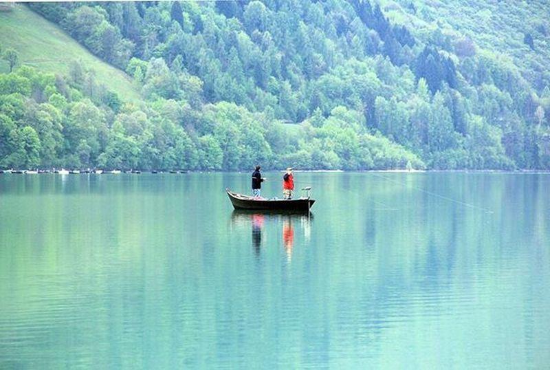 Lagosantacroce Pescatori Fisherman Lake Liqen Peshkatar Uje Acqua Dy Due Uomini Best_free_shot