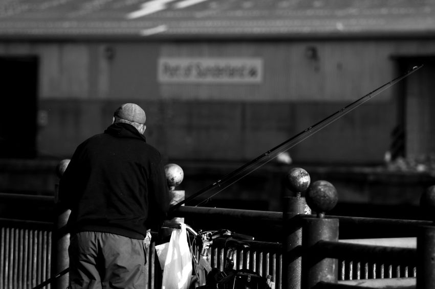 Adult Black And White Photography Fishing Fishing Time Men Older Man One Man Only One Person Outdoors Real People