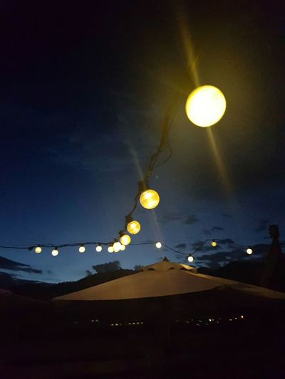 Lights Moon Low Angle View Night No People Sky Astronomy Outdoors Lights Phone Lights Lamps