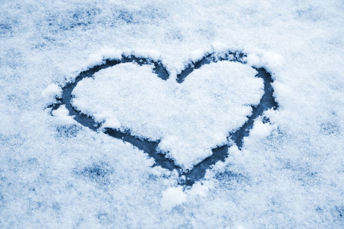 Blue Close-up Cold Temperature Day Heart On Snow Heart Shape Ice Love Love Monochrome Nature No People Outdoors Relationship Snow Symmetry Winter Winter