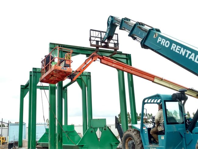 Industry Outdoors Industrial Equipment Machinery Sawmill Instalation Millwright Work Industry Workplace Safety Day Construction Machinery Sky