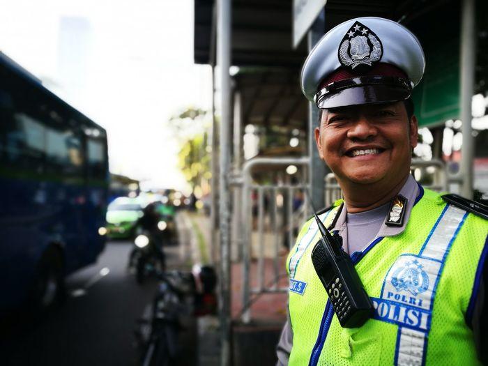 On duty Portrait Policeman Police Officer Shift Men In Uniform Adult