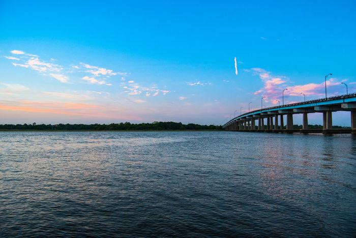 Bridging the north and the west like Kim and Kanye. Bridge Silhouette Cloud And Sky EyeEm Charleston