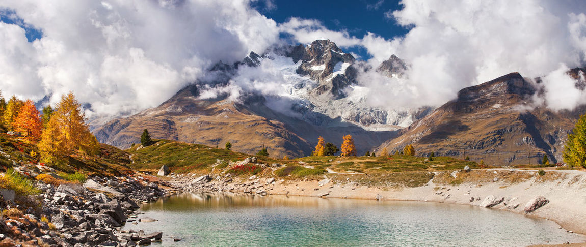 Swiss Alps in autumn. Alps Clouds Colors Europe Landscape Mountain Nature No People Outdoors Panorama Swiss Alps Switzerland Travel