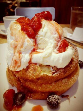 """おさんじのパンケーキ☻"""" Yummy Pancakes おやつ パンケーキ"""