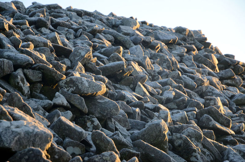 Large Group Of Objects Morning Sunlight Rock - Object Rock Pile