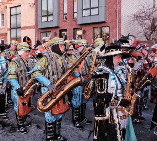 Phillylove ❤️ MummersParade2018 Architecture Built Structure Day Building Exterior Outdoors Music Musical Instrument Musician Only Men People