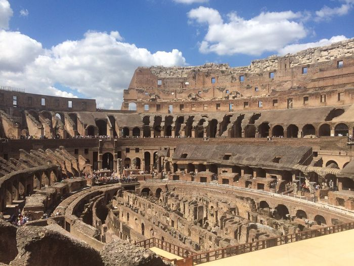 Amphitheater Ancient Ancient Civilization Arch Archaeology Architecture Building Exterior Built Structure Capital Cities  Cloud - Sky Coliseum Culture Day Famous Place Historic History International Landmark Old Old Ruin Outdoors Ruined Sky The Past Tourism Travel Destinations