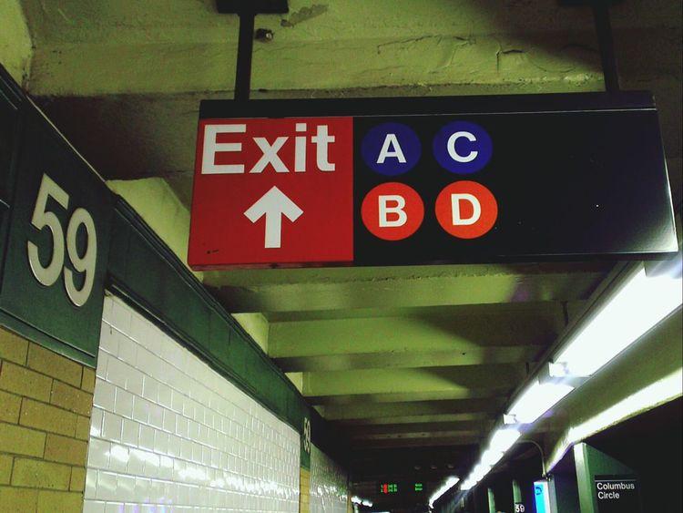 59 Exit to A B C D Alphabetography Typography New York City EyeEm Best Edits