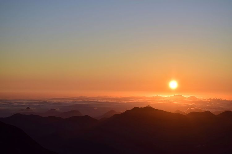 Amanhecer Astronomy Galaxy Mountain Sunset Beauty Space Fog Illuminated Horizon Winter Sky Only Nebula Infinity Emission Nebula