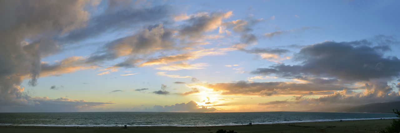 Sky Sea Cloud - Sky Water Scenics - Nature Horizon Beauty In Nature Horizon Over Water Sunset Tranquility Tranquil Scene Nature Beach Land Idyllic No People Dramatic Sky Non-urban Scene Sunlight Outdoors Panorama Panoramic Photography Beachlife Amazing